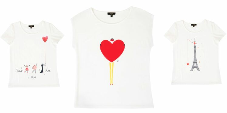 In love des tee-shirts 1.2.3 pour la Saint-Valentin