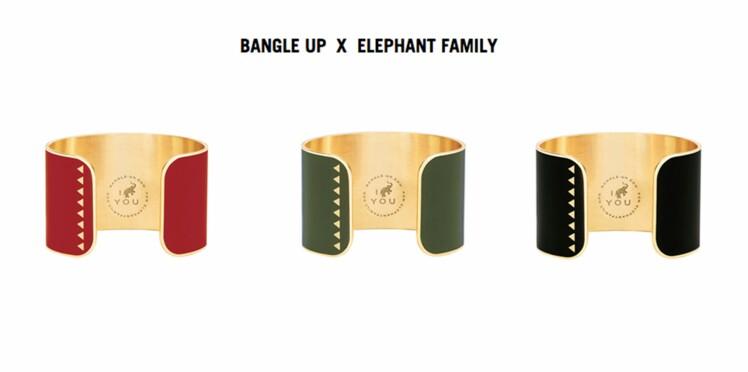 Bangle up x Elephant Family : un bracelet pour sauver les éléphants