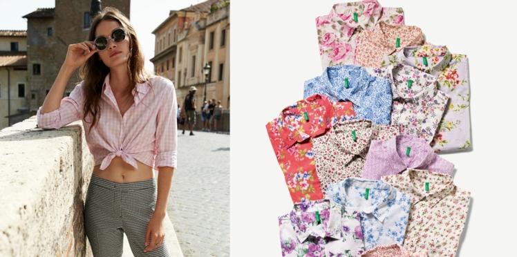 Les chemises Benetton fleurent bon l'été