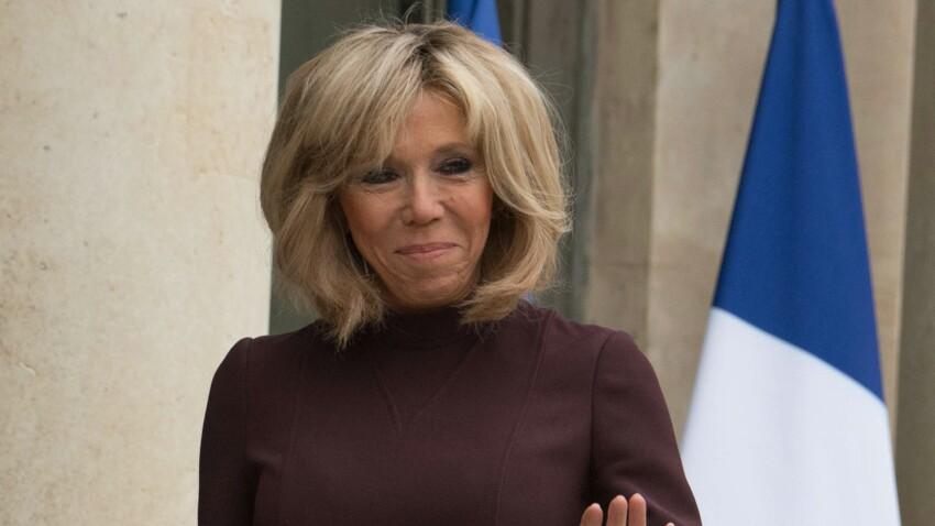 Brigitte Macron : très chic en robe zippée, son retour mode est confirmé !