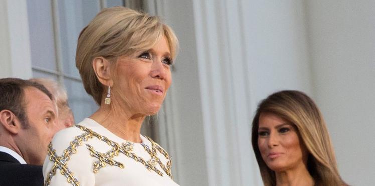 Brigitte Macron & Melania Trump, éblouissantes en robes de soirée