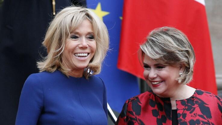 Brigitte Macron ose une robe de soirée originale pour son dîner officiel à l'Elysée