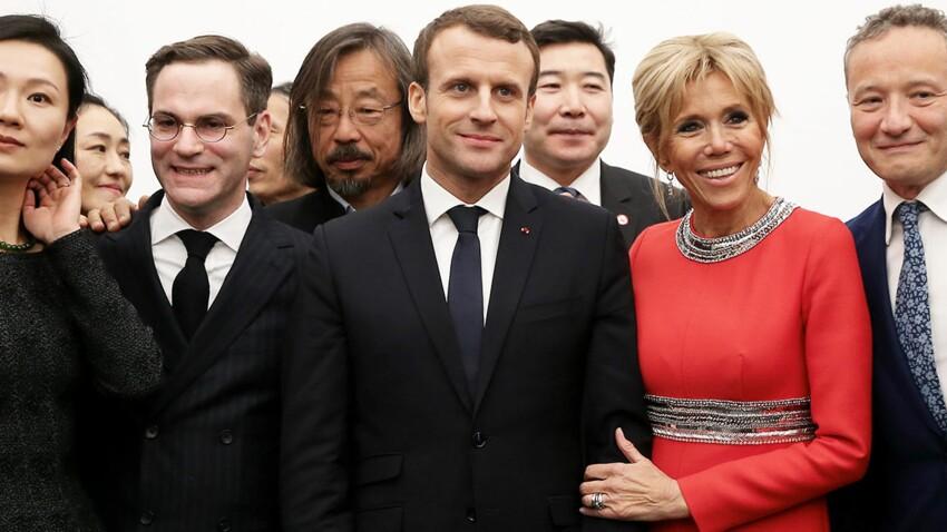 Brigitte Macron ultra chic en robe de soirée à Pékin