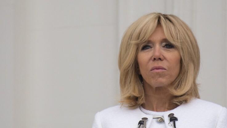 Brigitte Macron ose le total look blanc à la Maison Blanche