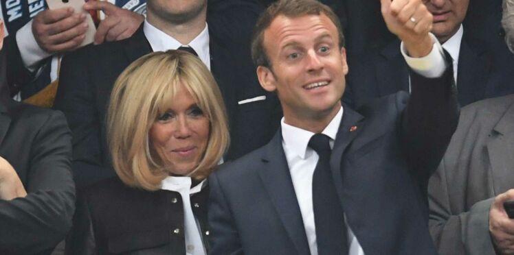 Brigitte Macron, chic en cuir et rayonnante aux côtés de son mari à la finale de Rugby