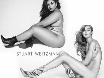 Une mannequin grande taille reproduit une photo nue de Gigi Hadid pour  combattre les préjugés et 1b99bd41c8a