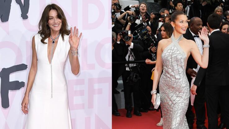 Carla Bruni-Sarkozy dévoile une photo avec son sosie Bella Hadid