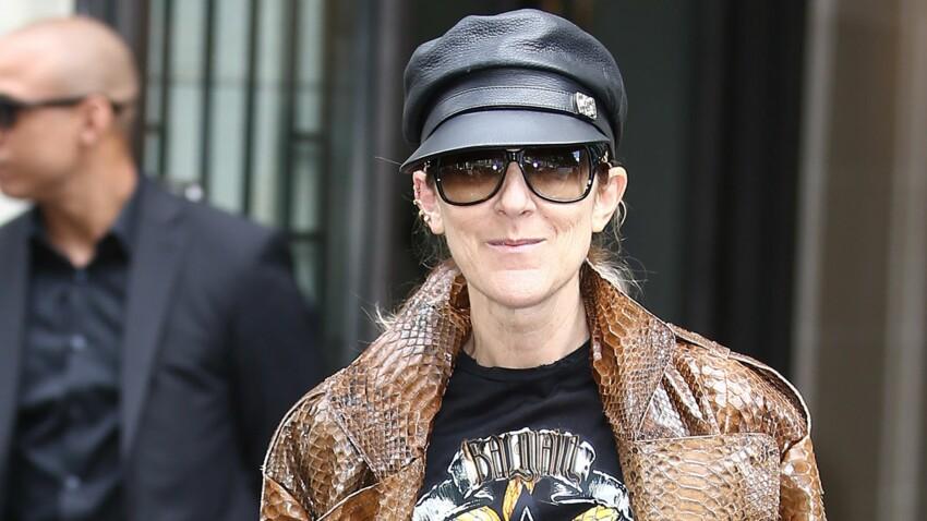 Photos - Céline Dion surprend en manteau python et cuissardes : top ou flop ?
