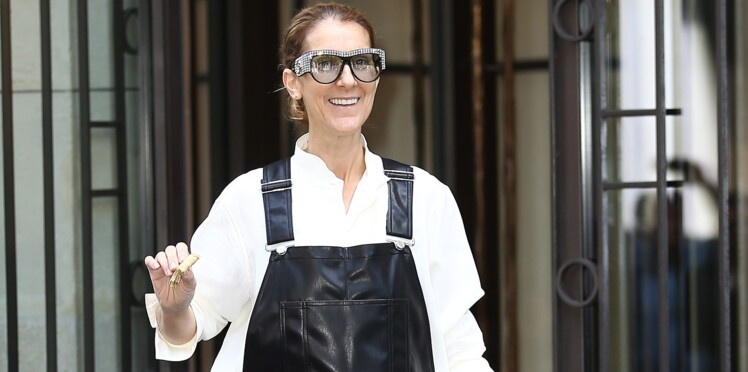 Photo - Céline Dion ose la salopette en cuir et continue sa transformation mode