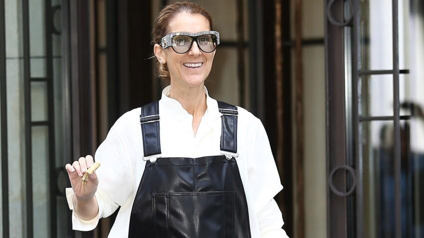 Photo - Céline Dion ose la salopette en cuir et continue sa transformation mode