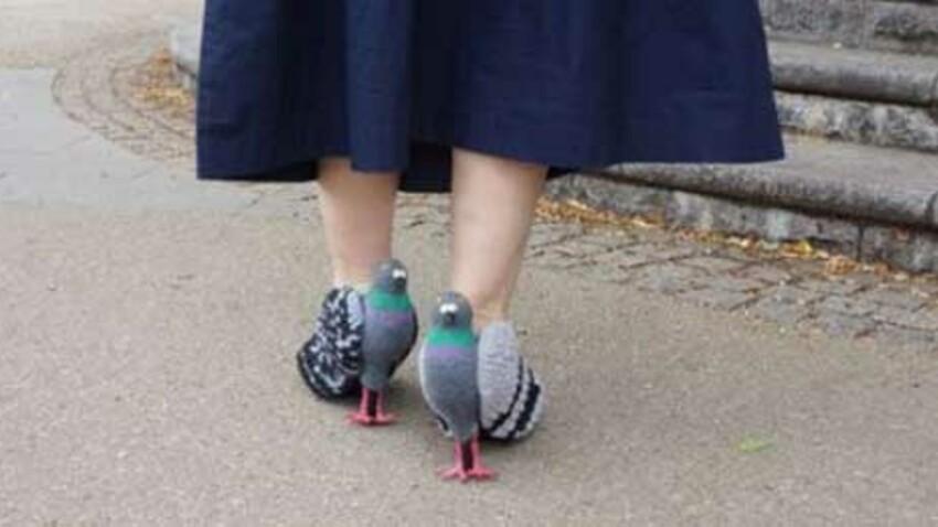 Des chaussures à talon en forme…de pigeon