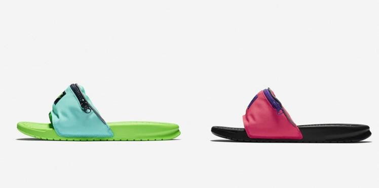 Claquette-banane   Nike ose la fusion improbable !   Femme Actuelle ... 055b7aee3125