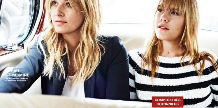 Sarah Lavoine et sa fille Yasmine : le nouveau duo mère-fille Comptoir Des Cotonniers