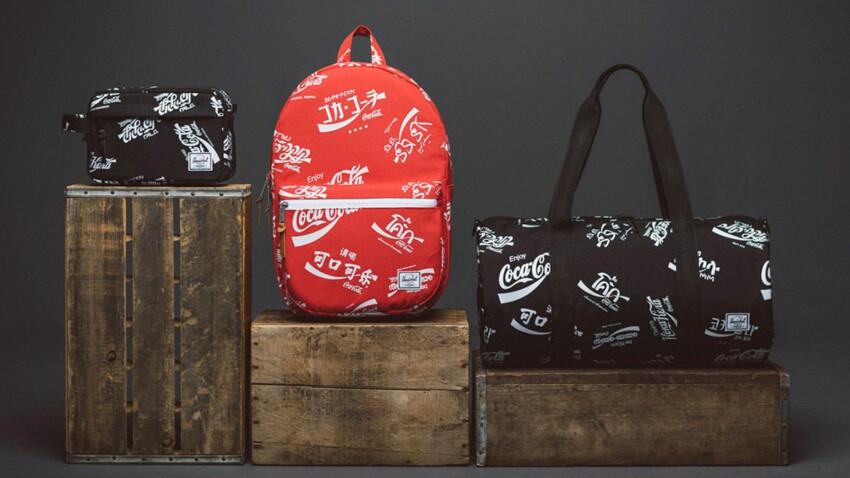 Des sacs signés Coca-Cola x Herschel Supply Co