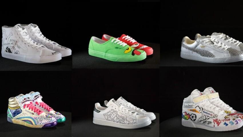 15 artistes relookent des sneakers pour la bonne cause
