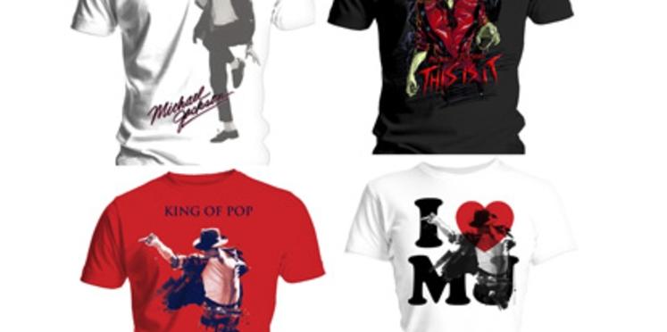 Des T-Shirts à l'effigie de Michael Jackson