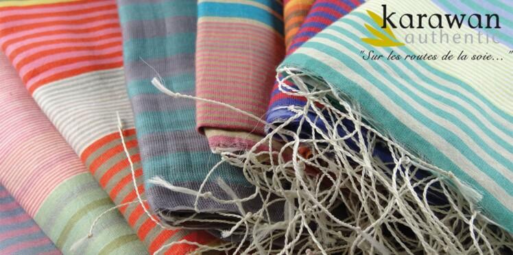 Zoom sur les écharpes éthiques de Karawan.