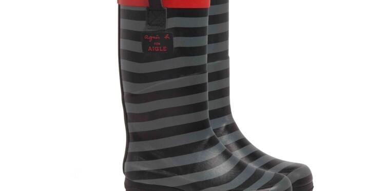L'édition limitée de bottes en caoutchouc agnès b. pour Aigle en magasin le 21 mars
