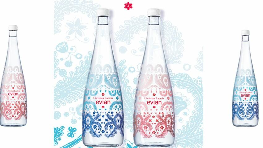 Evian x Christian Lacroix : des bouteilles d'eau haute couture