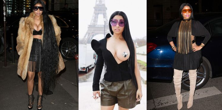 Paris Fashion week : les looks de Nicki Minaj