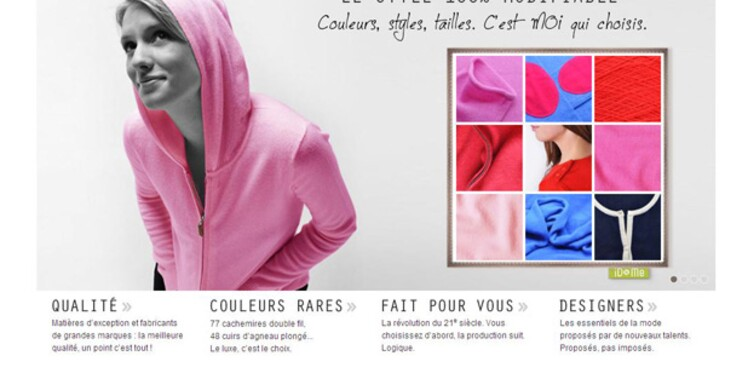La mode sur-mesure et 100% modifiable investit le Web