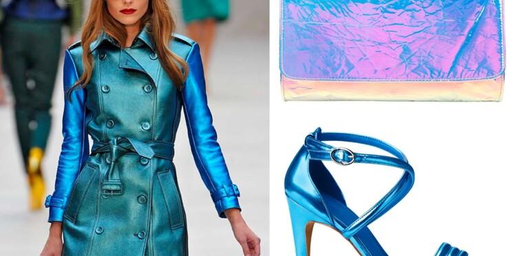 L'idée mode du jour : les accessoires en cuir irisé