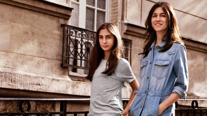 EN VIDEO - J Brand x Comptoir des Cotonniers : une capsule avec en égérie, Charlotte Gainsbourg et sa fille Alice