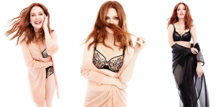Julianne Moore, 56 ans et égérie de la nouvelle marque Florale by Triumph