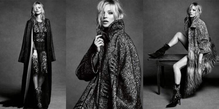 Kate Moss, muse sensuelle d'Alberta Ferretti