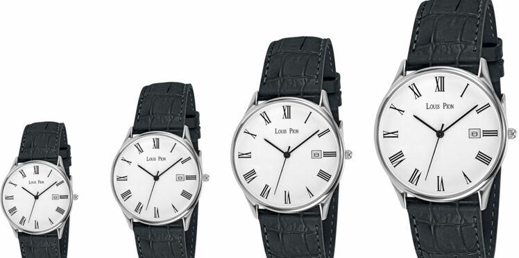La même montre en 4 tailles de Louis Pion