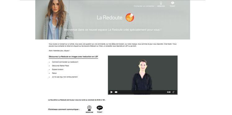 La Redoute propose un service dédié aux sourds et malentendants