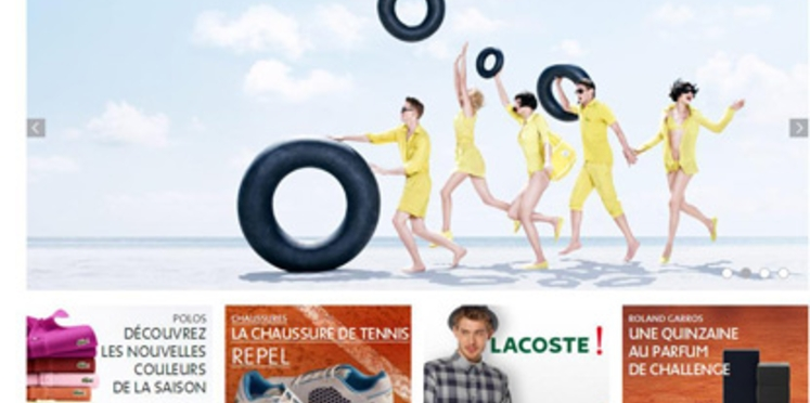 Lacoste lance sa boutique en ligne française