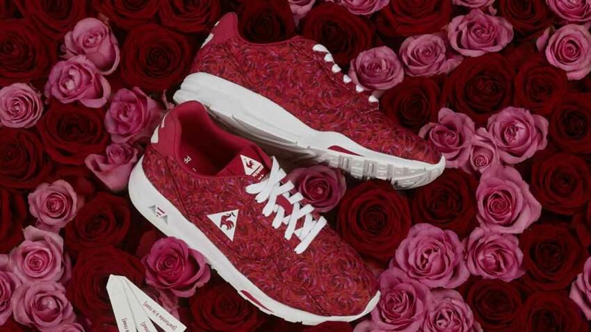 Une sneaker Le coq sportif parfumée à la rose