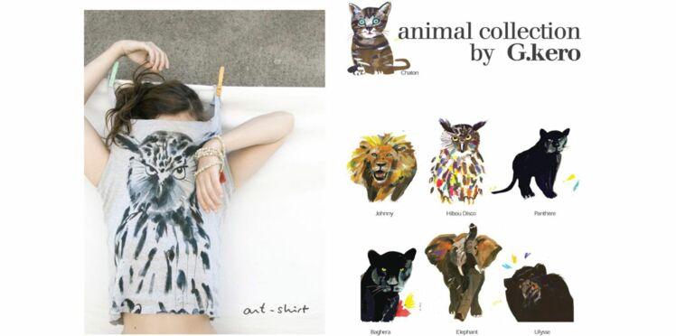 Les T-shirts arty et animaliers de G.kero
