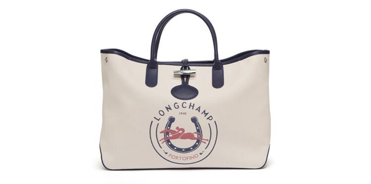 e994ceb026 Longchamp réédite son sac Roseau, en toile jacquard et au nom de votre  ville préférée
