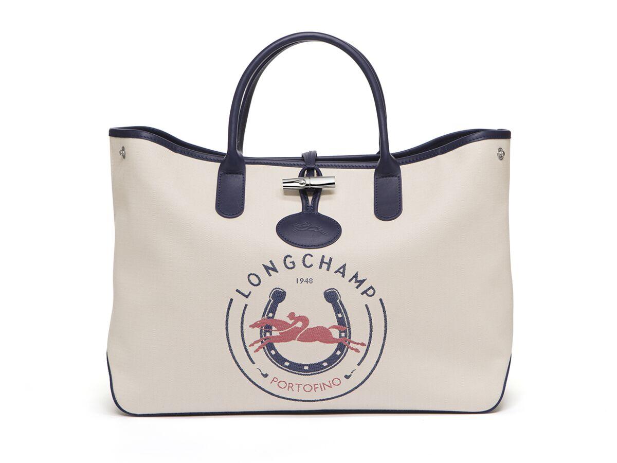 Longchamp réédite son sac Roseau, en toile jacquard et au