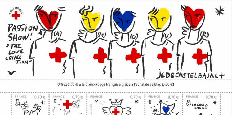 « Love Collection » : des timbres solidaires signés Castelbajac