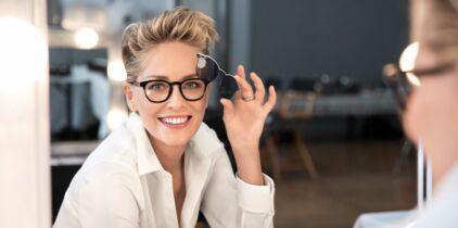 edd7715d7d84a Afflelou lance des lunettes à verres interchangeables avec l actrice  hollywoodienne Sharon Stone