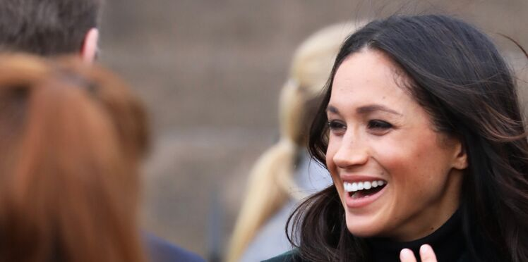 Meghan Markle, ravissante dans son manteau tartan so british !