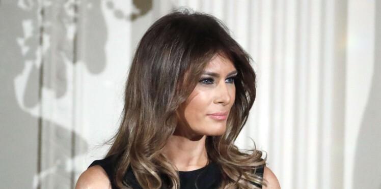 Melania Trump, très bling bling dans un look noir et or