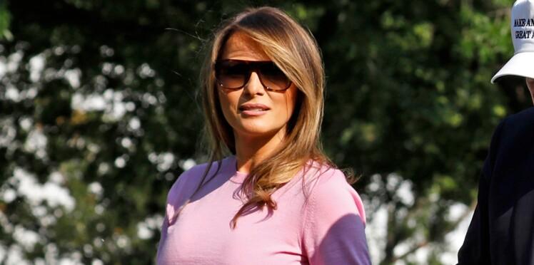 Melania Trump : son look en robe longue remporte tous les suffrages !