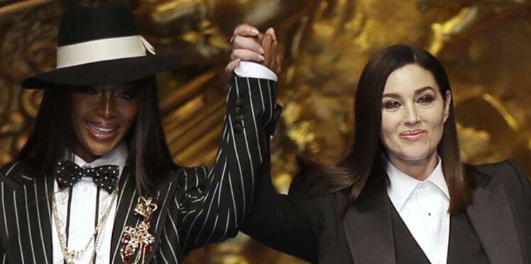 Monica Bellucci et Naomi Campbell sublimes pour le défilé Dolce & Gabbana