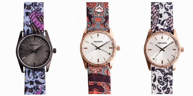 Les montres en tissu rock & folk de Zadig & Voltaire