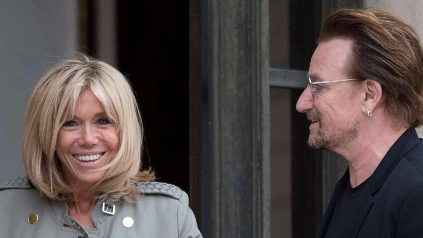 Photo - Brigitte en veste rock pour accueillir Bono