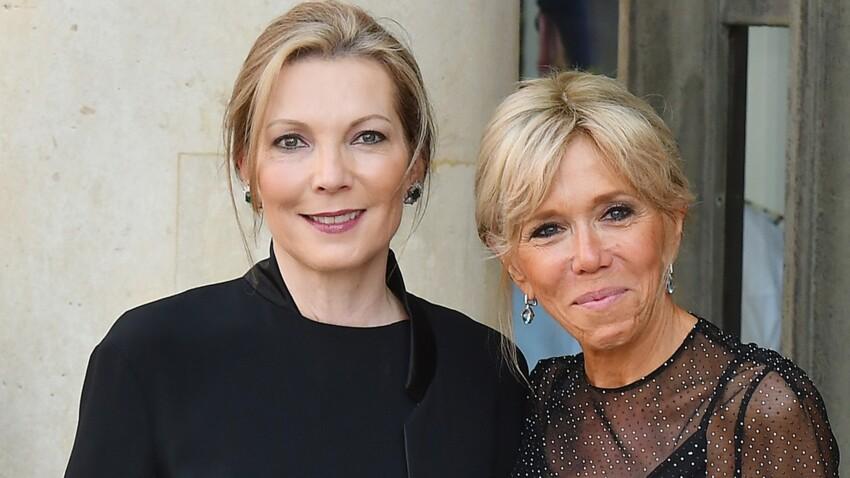 Photos - Brigitte Macron ose la transparence en robe courte à pois