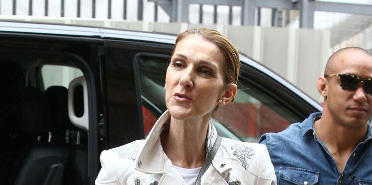 Photos - Céline Dion en veste en cuir surprenante et jean déchiré pour faire son shopping