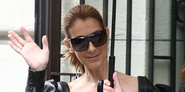 Photos – Céline Dion ose le bustier en cuir ultra sexy