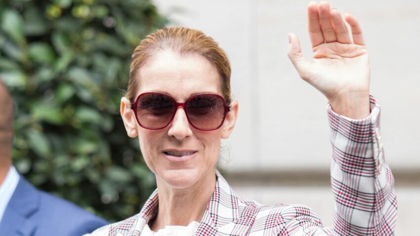 PHOTOS – Céline Dion ose un look boyish en smoking à carreaux
