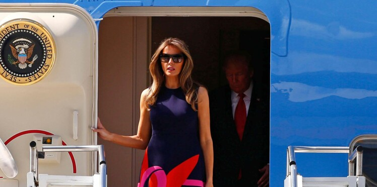 Photos - Melania Trump : sa surprenante robe pour son arrivée en Europe