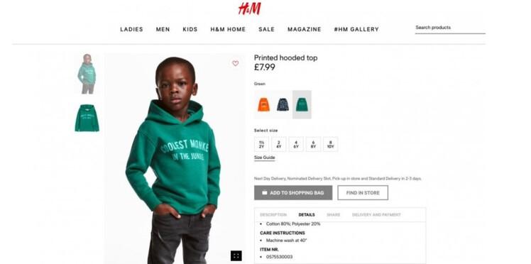 L'enseigne H&M crée la polémique après une photo jugée raciste